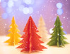 Paper Trees (Cat Girl 007) Tags: symbol design decoration paper origami holiday december decorative celebration winter art christmas tree xmas object ornament concept 3d handmade shape fantasy cute folded seasonal christmastree bokehlights bokeh snow solstice yule