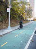 Upper Manhattan's First Protected Bike Lane on Fort George Hill, Fort George, New York City (jag9889) Tags: 2017 20171125 architecture bicycle bike biking building cycling cyclist fortgeorge fortgeorgehill hill house lane manhattan ny nyc newyork newyorkcity outdoor people post road sign signpost street text tree usa unitedstates unitedstatesofamerica uppermanhattan wahi washingtonheights jag9889 protected