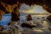 Cherson, Cherson (kirstenscamera) Tags: malibu california nikon d810 beach cave sunset wave water crashing jackkerouac star light outside sand window sky inside socal westcoast ca blue unitedstates serene