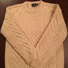 Aran wool sweater jumper (Mytwist) Tags: aranstyle wool irish style fashion fisherman cabled herritage sweater jumper knit woollen fetish donegal honeycomb