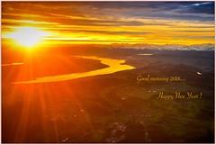 Bonne année à tous  🍀  Happy New Year to everybody (Make our PLANET great again !) Tags: leverdesoleil sunrise zürich avion plane sky nikon alpes alps lac lake nuages clouds fabuleuseenfêtesf