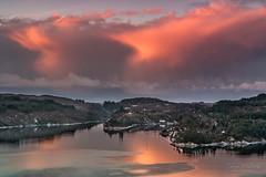 """December sunset"" (Terje Helberg Photography) Tags: haganes clouds cloudscape coast coastal coastalenvironement fjord landscape landskap natur nature outdoor scenery sea seascape sky skyscape view water winter"
