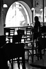 in a cafe (Sign-Z) Tags: cafe nikon d3100 afsnikkor1855mmf3556gvr 1855mmf3556gvr monochrome bw モノクローム カフェ 白黒