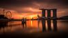 (Lens Cap1) Tags: singapore marinabay marinabaysands singaporeflyer sunrise merlionpark