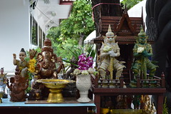 protective figures in a shrine (the foreign photographer - ฝรั่งถ่) Tags: protective figures shrine wat prasit mahathat buddhist temple bangkhen bangkok thailand nikon d3200