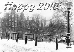 Happy 2018! (kees.stoof) Tags: amsterdam grachten canals sneeuw snow winter 1984