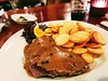 Sirloin Steak with Pepper Sauce and Thin Sliced Fried Potatoes (hhschueller) Tags: nrw düsseldorf duesseldorf samsungs8 germany duitsland deutschland ドイツ デュッセルドルフ