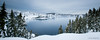 Crater Lake (Nick Kanta) Tags: color craterlake craterlakenationalpark d90 island lake nationalpark nikon oregon outdoorphotography pano panoramic sky snow snowshoeing tamron1024 trees water winter