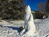 Dog meets Big Snow Cat (lezumbalaberenjena) Tags: snow invierno hiver hielo hiber nieve niege winter cold frio froid bully boston terrier perro dog chien chiot 2017 snowman