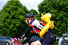 With a Little Help from my Friend (Hindrik S) Tags: bikerider biker fyts fytser fietser frou frau woman lady vrouw wielrenner radfahrer duck ein eend ent cyclist bicyclist racing sony sonyphotographing sonyalpha tamron tamronaf16300mmf3563dillvcpzdmacrob016 2017