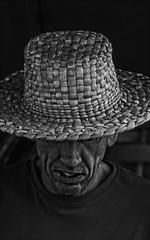 IMG_1461 on1 (douglasjarvis995) Tags: monochrome mono portraits portrait face hat bnw blackwhite blackandwhite dark canon festival wicker wide 300mmf4l 70d