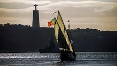 Caravela Vera Cruz (P.J.V Martins Photography) Tags: dusk sunset pordosol pds caravela veleiro mastro mast wind sail boat portugal lisboa lisbon sailor sailors sailboat