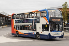 SMSL 19046 @ Chester bus interchange (ianjpoole) Tags: stagecoach merseyside south lancs alexander dennis enviro 400 mx56fro 19046 working route x2 chester bus station palace fields runcorn