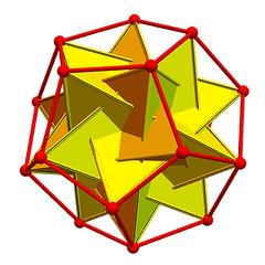 dodecahedron with 5 tetrahedra (created by Greg Egan) (jbuddenh) Tags: mathematics gregegan ams amsblog tetetrahedra dodecahedron inscribed