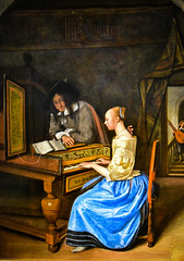Jan Steen - Young Woman Playing a Harpsichord to a Young Man, 1659 (The National Gallery London England) at Vermeer and the Masters Exhibit at National Gallery of Art - Washington DC (mbell1975) Tags: washington districtofcolumbia unitedstates us jan steen young woman playing harpsichord man 1659 the national gallery london england vermeer masters exhibit art dc nga museum museo musée musee muzeum museu musum müze museet finearts fine arts gallerie beauxarts beaux galleria painting dutch flemish golden age grand
