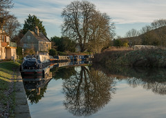Canal Queue (Stuart.67) Tags: avon canal reflection water barge trees nikon d800 kennet