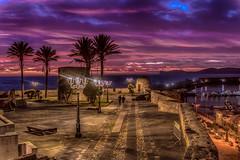 Fascino del tramonto algherese (antoniosimula) Tags: alghero sunset tramonto lucieombre viola allaperto lunga esposizione sigmaart 1770 nikond3200 postproduction sardegna