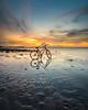 Gowes (jenvendes) Tags: asia indonesia sunset tangerang beach tanjungkait banten sea seascape landscape bicycle transportation reflection sands sky cloud summer popular