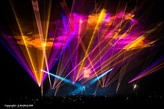 Light & Colour (Holfo) Tags: queen concert gig rock lights colour color nikon p7800 stage people blur adamlambert birmingham glow pretty glowing rocknroll projection flows