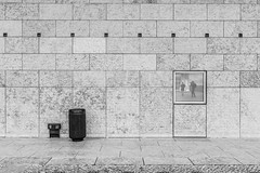 rearview mirror (ignacy50.pl) Tags: architecture wall blackandwhite monochrome mirror window people design lisbon cityscape cityview photography travel reportage minimal minimalism