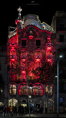 Casa Batlló Barcelona (Gabriel Castro Vidal) Tags: night urbanscene illuminated street architecture city famousplace christmas builtstructure buildingexterior citylife traveldestinations editorial people europe outdoors cityscape tourism lightingequipment usa everypixel casa batlló barcelona spain