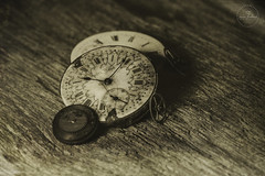 IMG_4605logo (Annie Chartrand) Tags: time watch pocketwatch antique vintage deguerrotype sepia monochrome gear steampunk mechanical south bend hands numbers hours minutes still life