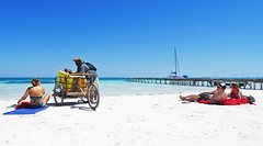Belize - Feb 2016 (Keith.William.Rapley) Tags: cayecaulker island rapley keithwilliamrapley february feb 2016 centralamerica sea sand beach palmtrees woodenpier pier woodenjetty jetty