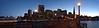 Pier 7 and Embarcadero Center (cb dg photo) Tags: panorama longexposure embarcaderocenter flare sunset wood pier waterfront city lamps lights transamericapyramid telegraphhill coittower sanfranciscobay sf california sanfrancisco pier7