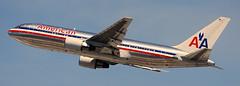 Boeing 767-223 N332AA (707-348C) Tags: losangeles thehill lax airliner jetliner boeing boeing767 klax b762 passenger american aal americanairlines n332aa historical california
