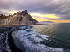 Vesturhorn Iceland (Eric Zumstein) Tags: iceland easternregion is dji mavicpro drone clouds photography bestcapturesaoi aoi elitegalleryaoi