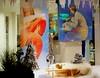Schaufenster in Künzelsau (zikade) Tags: olgaminardo wwwolgaminardocom hohenloherhörakustik yvonnemünter künzelsau kunst kunstimschaufenster kunstimgeschäft bilder gemälde pastelle schaufenster