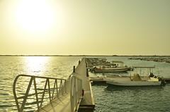 No passengers (t r a v e l a d v e n t u r e) Tags: passengers sea ship sunset saudiarabia thuwal water boat empty landscape port