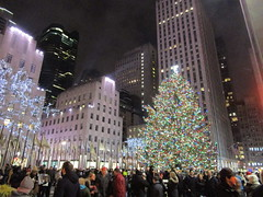 2017 Christmas Tree Rockefeller Center 5044 (Brechtbug) Tags: 2017 christmas tree rockefeller center with lights 12162017 nyc 30 rock new york city standing up above ice rink snow shoveling workers skating holiday decoration ornaments night lites light oversize load ornament midtown manhattan