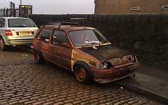 Metro (Sam Tait) Tags: bolton modified rust brown stances stance stabce slammed lowered scene hatchback rare retro metro 100 rover ratlook rat