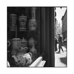 pots • rouen, normandy • 2016 (lem's) Tags: pots pharmacy pharmacie window vitrine rue street rouen normandy normandie rolleiflex planar