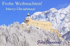 Christmas is here (Pablo Martinez Perez) Tags: christmas xmas card weihnachten feliz navidad werfen festung hohenwerfen