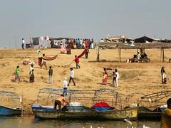 Allahabad, Triveni Sangam 28 (juggadery) Tags: 2015 india uttarpradesh religion hindu water people boattrip