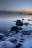 -17°F HDR (Larry E. Anderson) Tags: duluth duluthshippingpier hdr lakesuperior landof10000lakes minnesota thenorthshore clouds fog highdynamicrange ice lake landscape lighthouse rocks seasmoke seasons sky sunrise water winter frozenphotographers