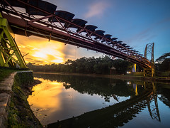 PC310838 (Henry Sudarman) Tags: olympus omd em1 indonesia jawabarat depok ui bridge sunset architecture arsitektur