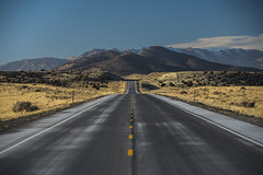Salty Asphalt (JasonCameron) Tags: utah west desert road middle drive tour route empty alone lonely salty salt winter january