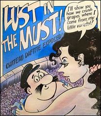 Lust in the Must (Mark Birkle) Tags: lust must phil frank winemaking winemaker barrel grapes italian french female hot sexy beautiful agressive timid male man hat long black hair art bath crush crushing chateau dafitte exposed fermentation varietal image photo picture