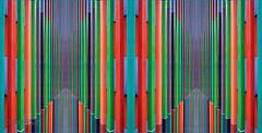 Bipolar View (ARTUS8) Tags: nikon18105mmf3556 symmetrie pattern bildkomposition color farbe flickr abstrakt digitallycomposed detail muster kontrast linien nikond90 struktur colour geometrisch münchen lines