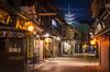Late Night in Miyajima - Explored (NOAC_) Tags: japan japanese travel tourism temple pagoda asia asian evening dusk late night nocturnal orange blue pentaxk5iis road street alley light lantern streetlight photography sigmaf1828mmexdgasphericalmacro