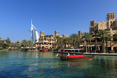 Dubai, United Arab Emirates - Madinat Jumeirah (GlobeTrotter 2000) Tags: dubai eimirates uae unitedarabemirates abra arab burj burjalarab jumeirah madinath souk tourism travel visit water