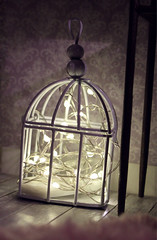 Garland in birdcage (kinmegami) Tags: rement miniature dollhouseminiature handmade barbie barbiemadetomove christmas sewing machine kawamoto cookie box