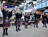 Downtown music at Christmas (Lance # Australian photographer) Tags: icon people bagpipes music downtown christmas street outside pipesanddrums