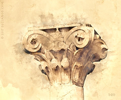 Classical Column (sbox) Tags: architecture greece greek roman column capital sketch declanod sbox spain españa textures drawing painterly corinthian