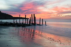 Port Willunga, South Australia: Tonight at Sunset (Sharon Wills) Tags: portwillunga port willunga beach ruins jetty sunset beachsunset pier sea sky water ocean seascape south australia australian coast coastal