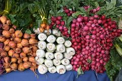 Farmers Market (earthdog) Tags: 2017 nikon d5600 nikond5600 18300mmf3563 farmersmarket mountainview food edible rootvegetable vegetable radish
