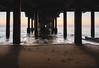 under the peer (garethottywill) Tags: fujifilm xt2 16mm fujinon classicchrome waves sand water peer beach felixstowe suffolk sunrise